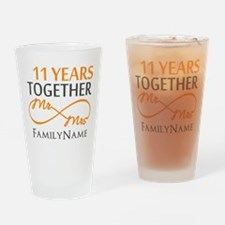 11th anniversary Drinking Glass
