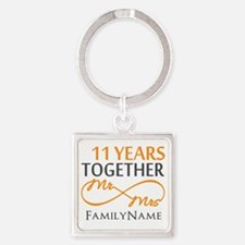 11th anniversary Square Keychain