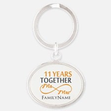 11th anniversary Oval Keychain