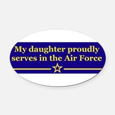 Cute Air force daughter Oval Car Magnet