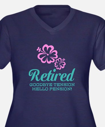 Cute Retirement Plus Size T-Shirt For Women
