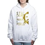 Stai calmo e passala a Pirlo Women's Hooded Sweats