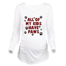 Kids paws Long Sleeve Maternity T-Shirt