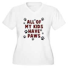 Kids paws Plus Size T-Shirt