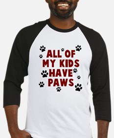 Kids paws Baseball Jersey