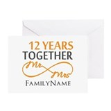 12 year anniversary Greeting Cards