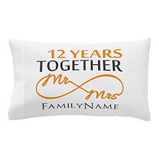 12th anniversary Pillow Case