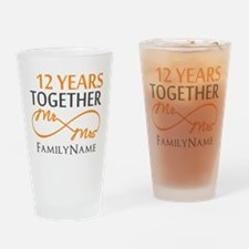 12th anniversary Drinking Glass