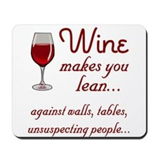 Wine lean Mousepad