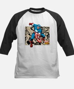 Captain America Retro Kids Baseball Jersey