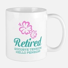 Funny Retirement Mugs | Pink Floral Design