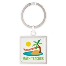 Retired Math teacher Square Keychain