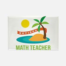 Retired Math teacher Rectangle Magnet