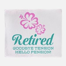 Funny retirement Throw Blanket