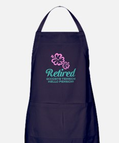 Funny Retirement Apron (dark) For Retiring Women