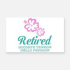 Funny retirement Rectangle Car Magnet