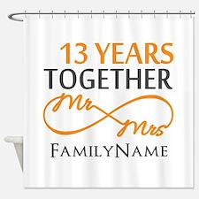 13th anniversary wedding Shower Curtain