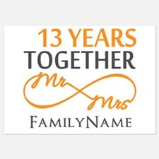 13th anniversary wedding 5x7 Flat Cards