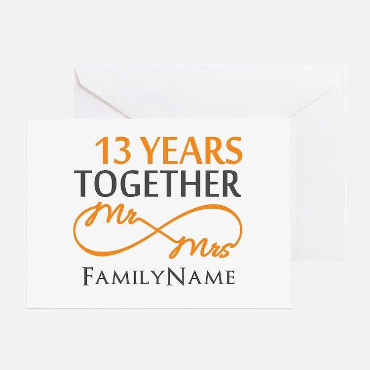 13th anniversary wedding Greeting Card