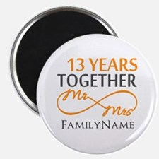 "13th anniversary wedding 2.25"" Magnet (10 pack)"