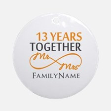 13th anniversary wedding Ornament (Round)