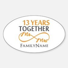 13th anniversary wedding Decal