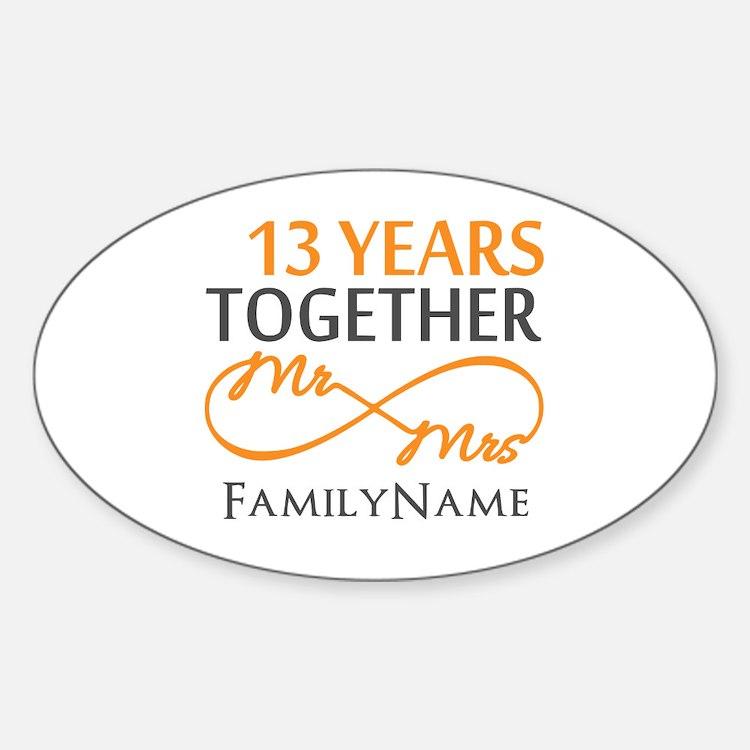 13th anniversary wedding Decal