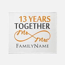 13th anniversary wedding Throw Blanket