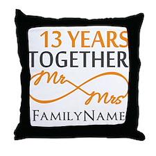 13th anniversary wedding Throw Pillow