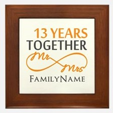 13th anniversary wedding Framed Tile