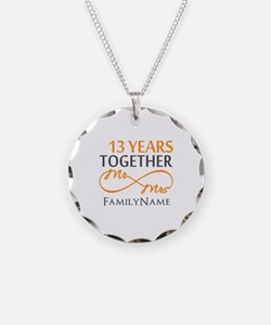 13th anniversary wedding Necklace