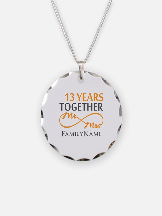 13th anniversary wedding Necklace