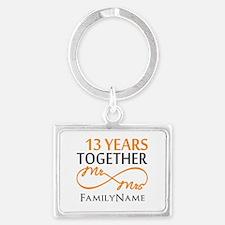 13th anniversary wedding Landscape Keychain