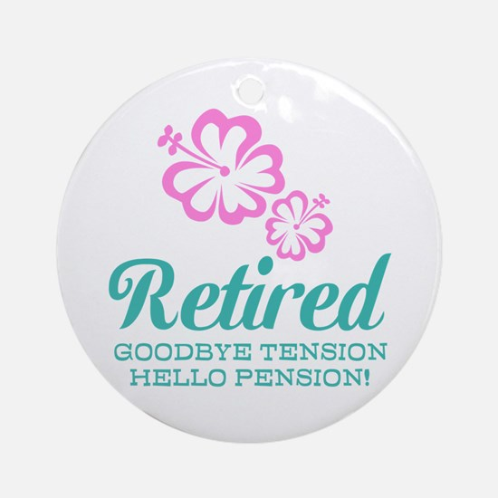 Funny retirement Ornament (Round)