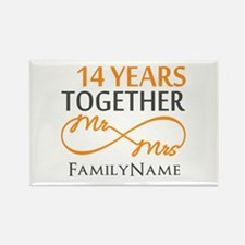 14th anniversary Rectangle Magnet