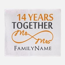 14th anniversary Throw Blanket