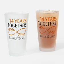 14th anniversary Drinking Glass