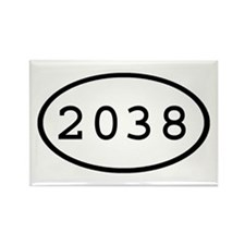 2038 Oval Rectangle Magnet