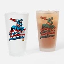 Captain America Logo Drinking Glass