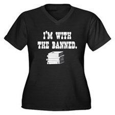I'm With the Banned Women's Plus Size V-Neck Dark