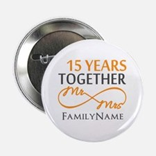 """15th anniversary 2.25"""" Button (10 pack)"""
