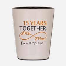 15th anniversary Shot Glass