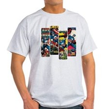 Captain America Comic Panels T-Shirt