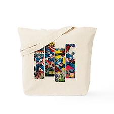 Captain America Comic Panels Tote Bag