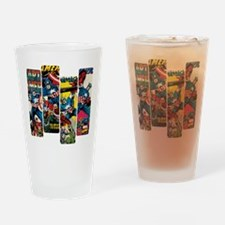 Captain America Comic Panels Drinking Glass