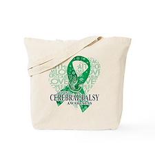 Cerebral Palsy Hope Love Bird Tote Bag
