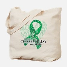 Cerebral Palsy Hope Love Bird Tote Bag