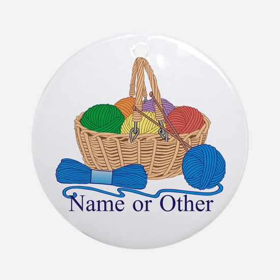 Personalized Knitting Ornament (Round)