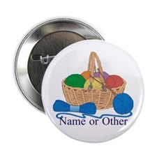 """Personalized Knitting 2.25"""" Button (10 pack)"""