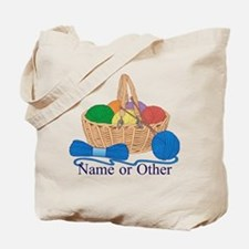 Personalized Knitting Tote Bag